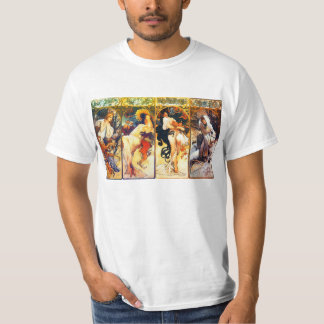 The Seasons 2nd set by Mucha T-shirt