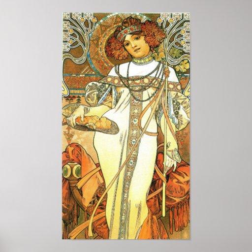 The Seasons: Autumn - Alphonse Mucha (1900) Poster | Zazzle