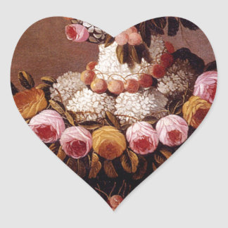 The Seasons by Giuseppe Arcimboldo Heart Sticker