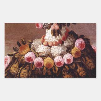The Seasons by Giuseppe Arcimboldo Rectangular Sticker