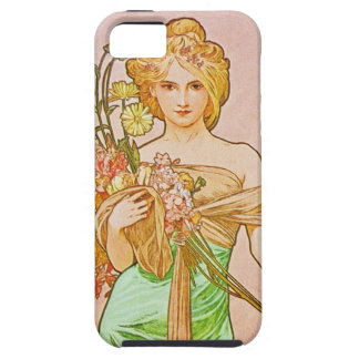 The Seasons: Spring Printemps, 1900 Alphonse Mucha iPhone SE/5/5s Case