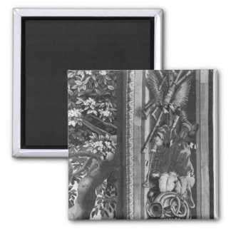 The Seasons' tapestry, border, Gobelins Factory 2 Inch Square Magnet