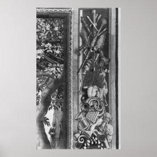 The Seasons' tapestry, border, Gobelins Factory Poster