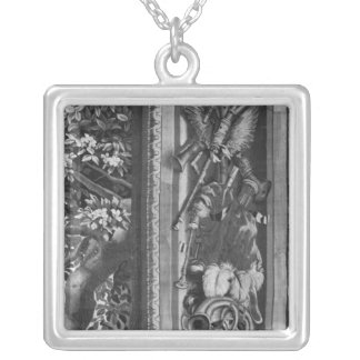 The Seasons' tapestry, border, Gobelins Factory Silver Plated Necklace