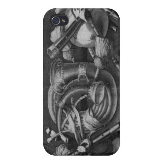 The Seasons' tapestry, border, music instruments Covers For iPhone 4