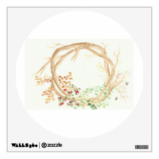 The Seasons Wreath: Apple Tree with Bees Wall Decal
