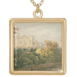 The Seat of G.B. Greenough Esq., Regent's Park, fr Gold Plated Necklace