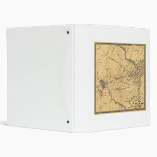 The Seat Of War Northern Virginia Civil War Map 3 Ring Binder