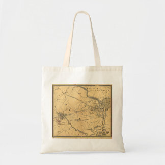 The Seat Of War Northern Virginia Civil War Map Canvas Bags