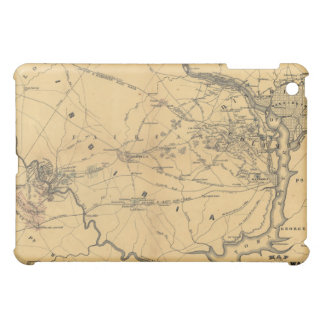 The Seat Of War Northern Virginia Civil War Map iPad Mini Case