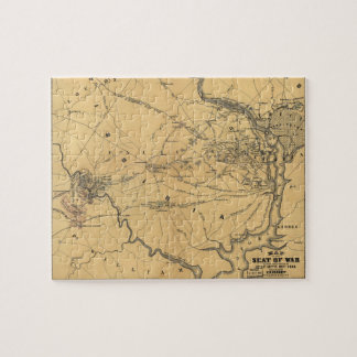 The Seat Of War Northern Virginia Civil War Map Jigsaw Puzzle