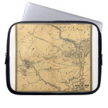 The Seat Of War Northern Virginia Civil War Map Laptop Sleeves