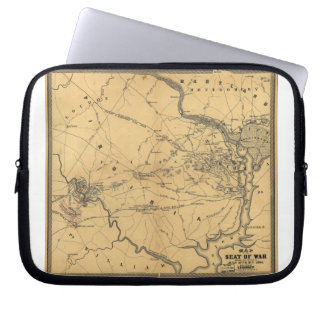 The Seat Of War Northern Virginia Civil War Map Laptop Sleeve