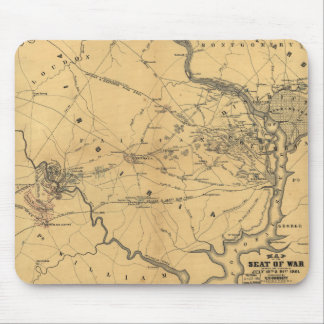 The Seat Of War Northern Virginia Civil War Map Mouse Pad