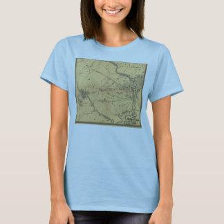 The Seat Of War Northern Virginia Civil War Map T-Shirt