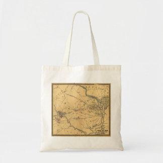 The Seat Of War Northern Virginia Civil War Map Tote Bag