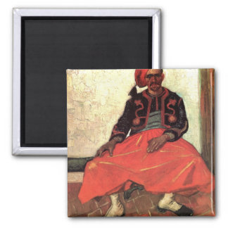 The Seated Zouave by Vincent van Gogh Fridge Magnet