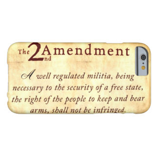 The Second Amendment Barely There iPhone 6 Case