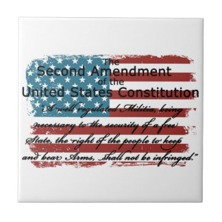 The Second Amendment Ceramic Tile