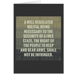 The Second Amendment Greeting Card