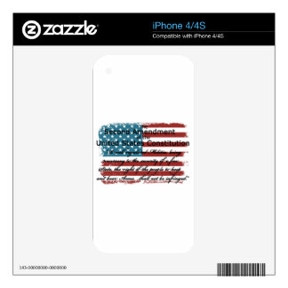 The Second Amendment iPhone 4S Decal