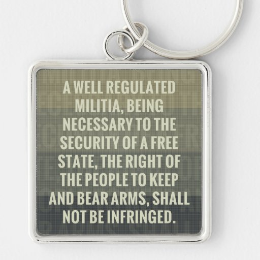 The Second Amendment Keychains