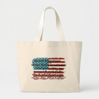 The Second Amendment Large Tote Bag