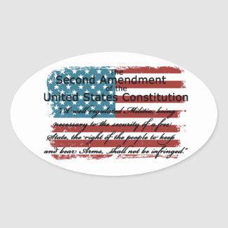 The Second Amendment Oval Sticker