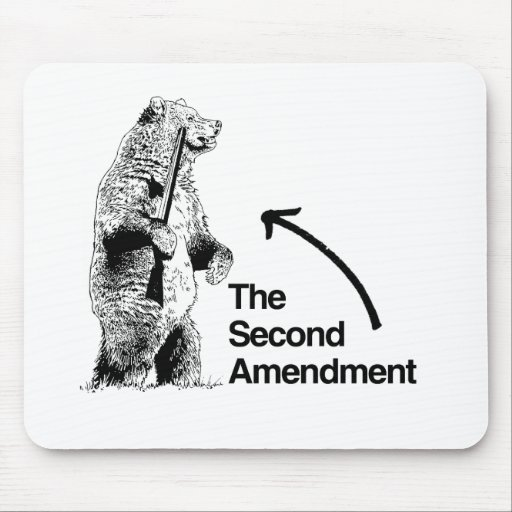THE SECOND AMENDMENT.png Mouse Pad