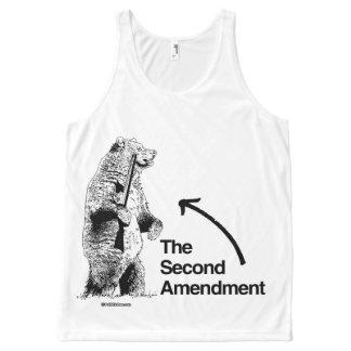 THE SECOND AMENDMENT Politiclothes Humor -.png All-Over Print Tank Top