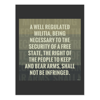 The Second Amendment Postcard