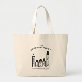 The Second Amendment...shall not be abridged! Large Tote Bag