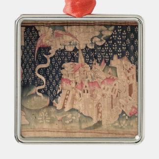 The second angel announces the fall of Babylon Christmas Tree Ornament