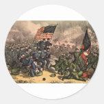 The Second Battle of Bull Run American Civil War Classic Round Sticker