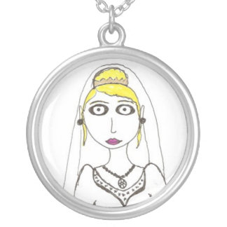 The Second Creepy Wedding The Bride Round Pendant Necklace