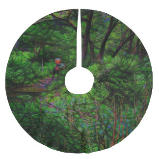 The Second Crossing By The Trees Brushed Polyester Tree Skirt