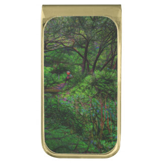 The Second Crossing By The Trees Gold Finish Money Clip