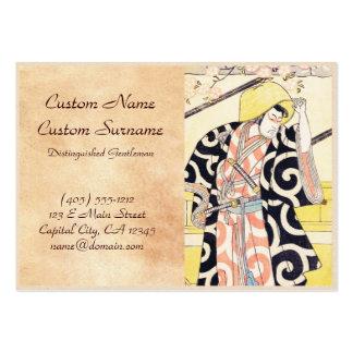 The Second Ichikawa Monnosuke as a Samurai Standin Business Cards