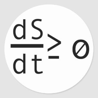 The Second Law of Thermodynamics Classic Round Sticker