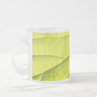 The Second Leaf 10 Oz Frosted Glass Coffee Mug