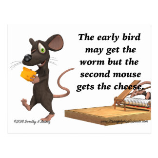 The Second Mouse Gets The Cheese Postcard