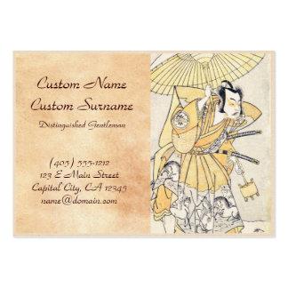 The Second Nakamura Juzo as a Samurai of High Rank Business Cards