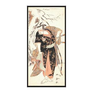The Second Nakamura Juzo as a Samurai of High Rank Canvas Print