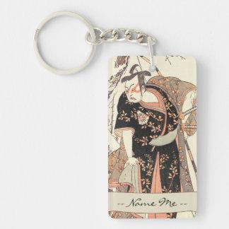 The Second Nakamura Juzo as a Samurai of High Rank Double-Sided Rectangular Acrylic Keychain