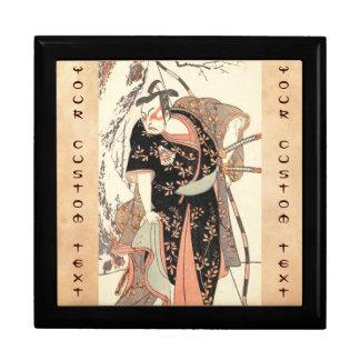 The Second Nakamura Juzo as a Samurai of High Rank Trinket Box