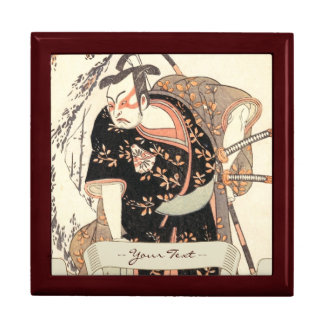The Second Nakamura Juzo as a Samurai of High Rank Jewelry Box