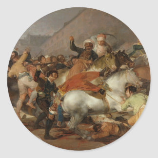 The Second of May 1808 The Charge of the Mamelukes Round Stickers