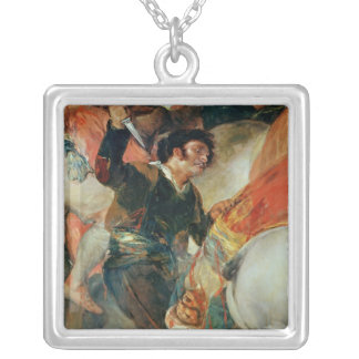 The Second of The Riot against the Mameluke Square Pendant Necklace