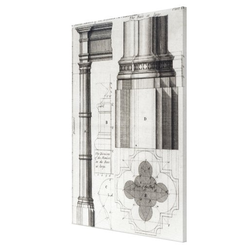 The Second Order of Gothic Architecture, 1741 Canvas Print