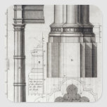 The Second Order of Gothic Architecture, 1741 Square Sticker